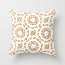 Citrine Mandala Tile Throw Pillow