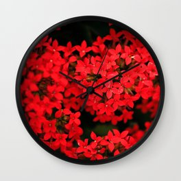 Red All Over Wall Clock