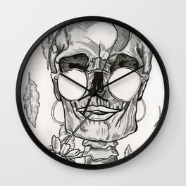 Over My Dead Body Wall Clock