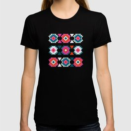 Kilim Abundance Pattern  - Blush & Teal Palette T-shirt