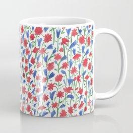 Watercolor miniature flowers floral pattern Coffee Mug