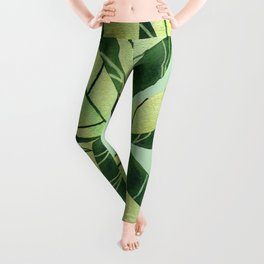 Leaf flower Leggings