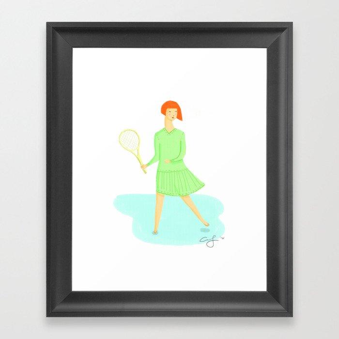 Sporty Lady #1 Framed Art Print