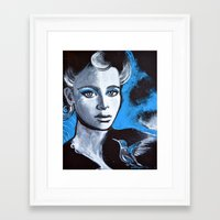 jenna kutcher Framed Art Prints featuring Jenna by McLean - Art & Design