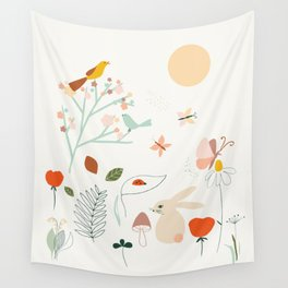 Meadow Blossom Wall Tapestry