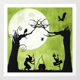 A Witch in The Woods Art Print