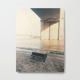 east river piano Metal Print