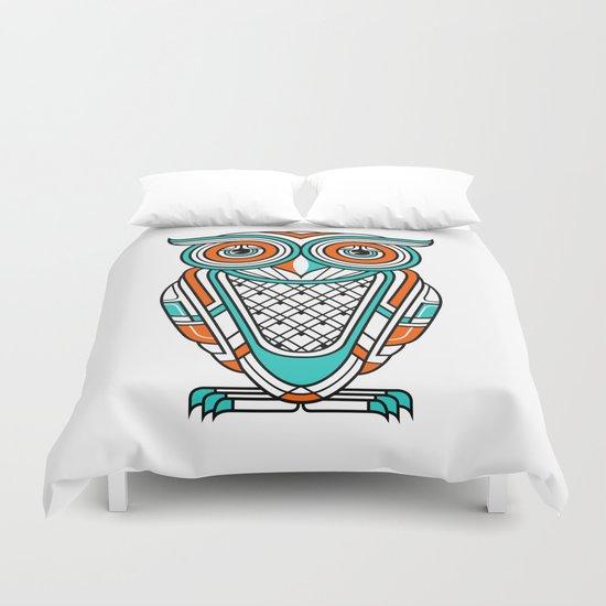 Art Deco Owl Duvet Cover
