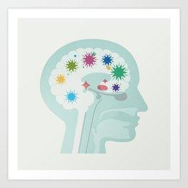 Brain at Work Art Print