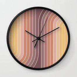 Gradient Curvature I Wall Clock