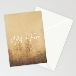 Wild And Free - Cascadia Forest Stationery Cards