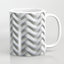 Metal Wave Silver Coffee Mug