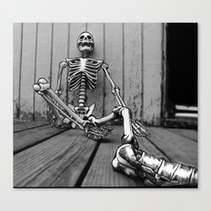 Skeletons on the Deck Canvas Print
