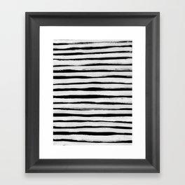 Black and White Stripes II Framed Art Print