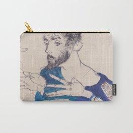"""Egon Schiele """"Gustav Klimt im blauen Malerkittel"""" Carry-All Pouch"""