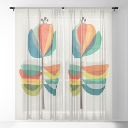 Whimsical Bloom Sheer Curtain