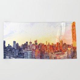 Sunshine in NYC Beach Towel