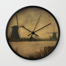 Kinderdijk Wall Clock