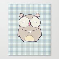 hamster Canvas Prints featuring Hamster by Mr and Mrs Quirynen
