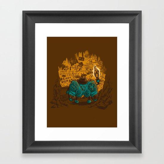 THE ARCHEO-GAME-OLOGIST Framed Art Print