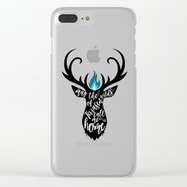May the wilds of Terrasen call me home Clear iPhone Case