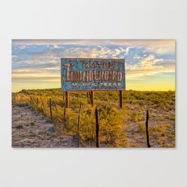 Motel Thunderbird, Marfa, Texas Canvas Print