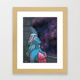 Alien Womann Framed Art Print