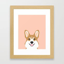Shelby - Welsh Corgi gifts with corgi illustration for dog people and corgi owner gifts dog gifts Framed Art Print