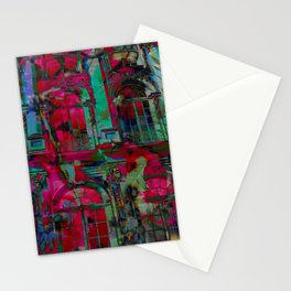 Psychedelic windows Stationery Cards