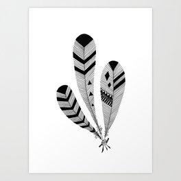 Bound Feathers Art Print