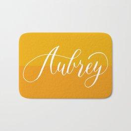 Aubrey - Modern Calligraphy Name Design Bath Mat