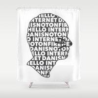 internet Shower Curtains featuring Hello Internet! by ElectricShotgun