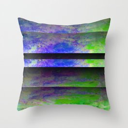 Green Color Blinds Throw Pillow