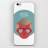 woody allen iPhone & iPod Skins featuring WOODY ALLEN by Gerardo Lisanti