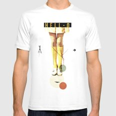 Cut The (...) | Collage Mens Fitted Tee MEDIUM White