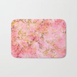 Raspberry Kiss - Pink Gold Marble Bath Mat