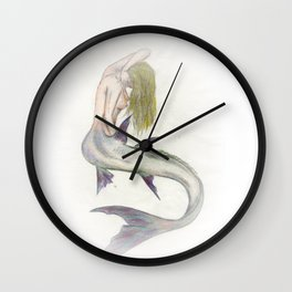 Mermaid Passion in Color Wall Clock