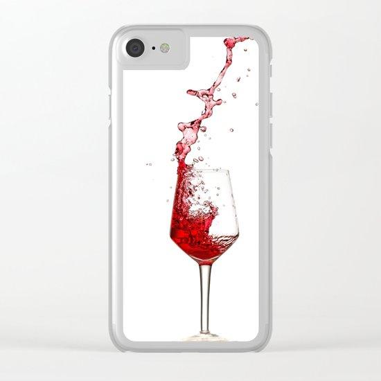 wine glass Clear iPhone Case