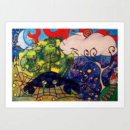 CRB Thinking about Home Art Print
