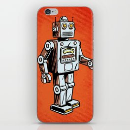 Retro Robot Toy iPhone Skin