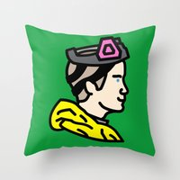 jesse pinkman Throw Pillows featuring Pinkman by MSTRMIND