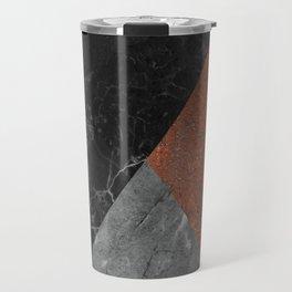 Marble, Granite, Rusted Iron Abstract Travel Mug