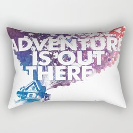Adventure is Out there Art print Rectangular Pillow