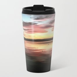 Sunset Reflected On Water Travel Mug