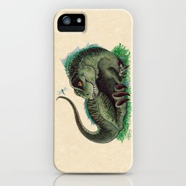 """""""Pinfeathers"""" by Amber Marine ~ T-Rex Dinosaur Watercolor illustration, (Copyright 2016) iPhone Case"""
