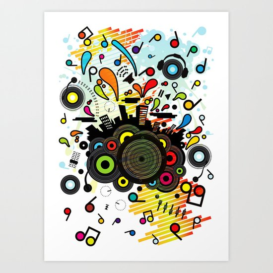 POP_MUSIC Art Print