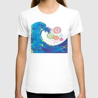 hokusai T-shirts featuring Hokusai Rainbow & Fireworks  by FACTORIE