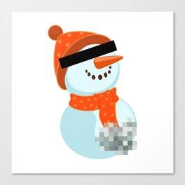 Dirty snowman Canvas Print