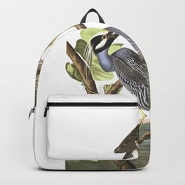 Yellow crowned heron, Birds of America, Audubon Plate 336 Backpack