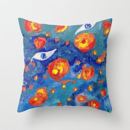 Snails abyss Throw Pillow